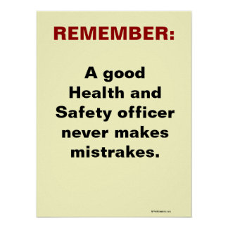 Humorous Health and Safety Slogan Poster