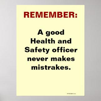 Humorous Health and Safety Slogan Print