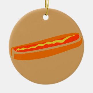 Humorous Hotdog Ornament