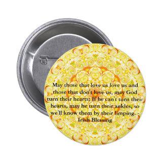 Humorous Irish Blessing from IRELAND Button