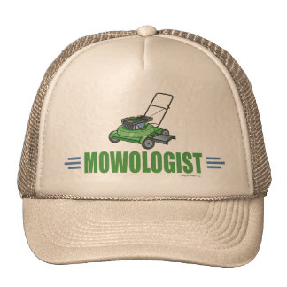 Humorous Lawn Mowing Mesh Hats