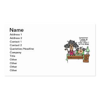 Humorous Let Grumpy Sleep Business Card Template