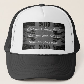 Humorous lying Quote On Goth Background Trucker Hat