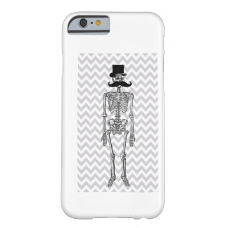 Humorous Mustache on Skeleton Grey iPhone 6 case