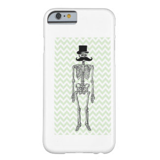 Humorous Mustache on Skeleton LIME iPhone 6 case Barely There iPhone 6 Case
