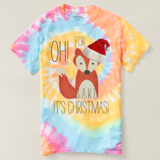 Humorous Oh For Fox Sake It's Christmas Tshirts