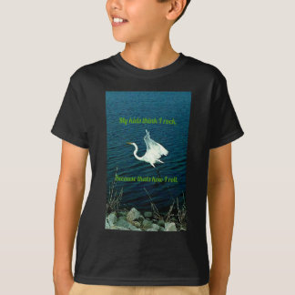 """Humorous  Outdoors """"Rock and Roll"""" Quote  Parents Tshirt"""
