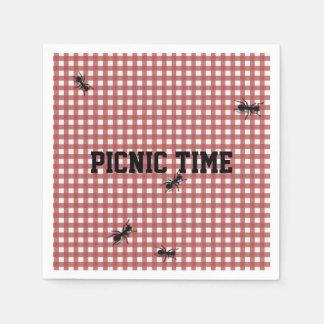 Humorous Picnic Ants Custom Napkins Paper Napkins