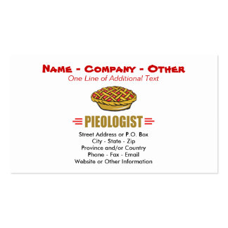 Humorous Pie Bakery Pack Of Standard Business Cards