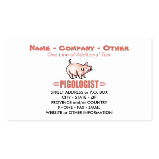 Humorous Pigs Pack Of Standard Business Cards
