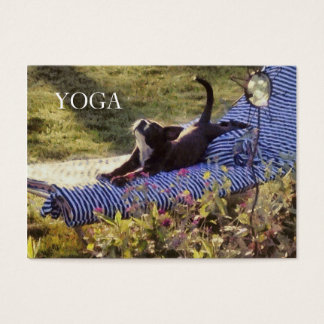 Humorous Puppy Stylish Summer Dog Yoga Pose Class Business Card