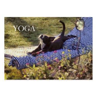 Humorous Puppy Stylish Summer Dog Yoga Pose Class Pack Of Chubby Business Cards