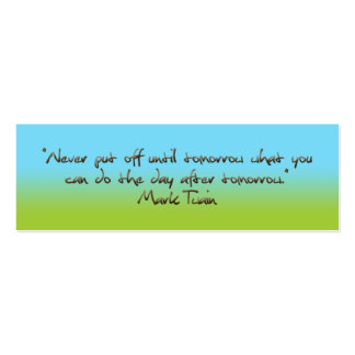 humorous quotation bookmark pack of skinny business cards