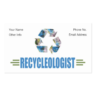 Humorous Recycling Business Cards