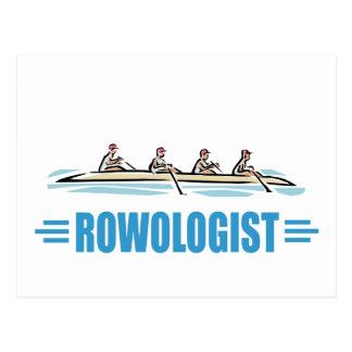 Humorous Rowing Postcard