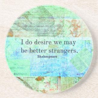 Humorous Shakespeare Insult quote Coaster