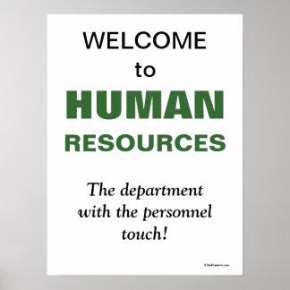 Humorous Slogan Human Resources Department Print