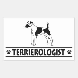 Humorous Smooth Fox Terrier Rectangular Stickers