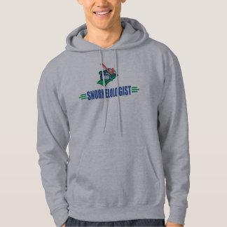 Humorous Snorkeling Hooded Sweatshirt