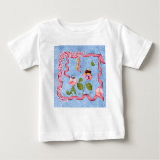 Humorous Sweet Peas Pink & Mauve Flower People Baby T-Shirt