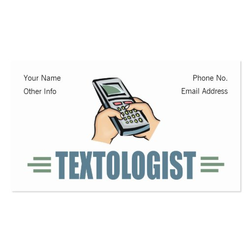 Humorous Texting Business Card
