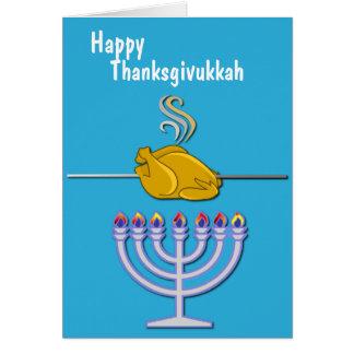 Humorous Thanksgivukkah Custom Card