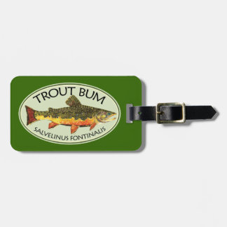 Humorous Title for Trout Addicts Luggage Tag