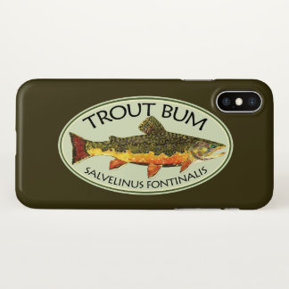 Humorous Trout Bum Fisherman's iPhone X Case