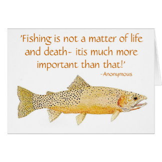 Humorous Trout Card with quote 2