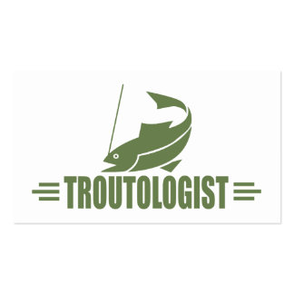 Humorous Trout Fishing Business Cards