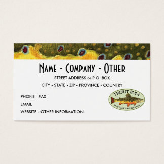 Humorous Trout Fishing Business Card