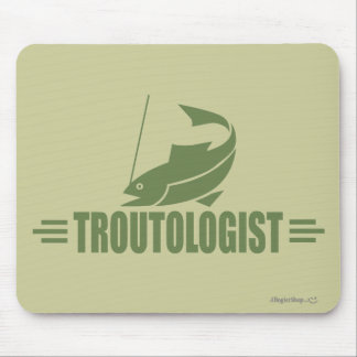 Humorous Trout Fishing Mouse Pad