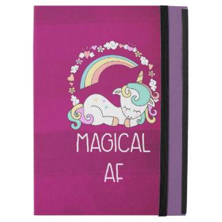 "Humorous Unicorn Magical AF on Pinkish Red Pattern iPad Pro 12.9"" Case"