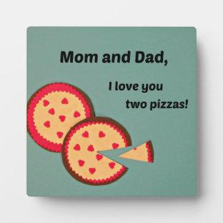 Humorous Valentine for parents Plaque