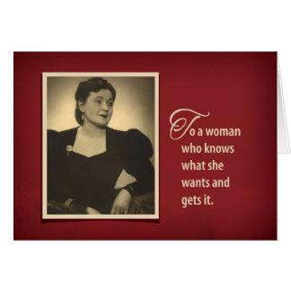 Humorous Vintage 1930's Birthday Gift Card Holder