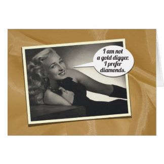 Humorous Vintage 1934's Birthday Gift Card for Her