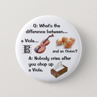 Humorous Viola Joke Button