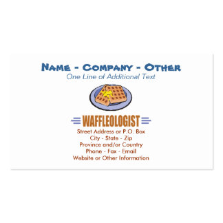 Humorous Waffles Pack Of Standard Business Cards