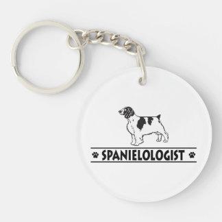 Humorous Welsh Springer Spaniel Single-Sided Round Acrylic Key Ring
