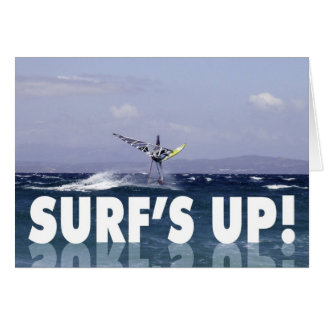 Humorous Windsurfer Birthday for Him Card