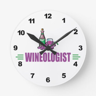 Humorous Wine Round Clock