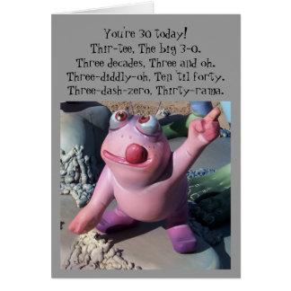 Humourous 30th Birthday Card