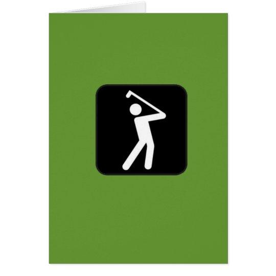Humourous Golfing Card