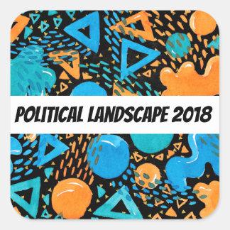 Humourous Political Landscape 2018 Square Sticker