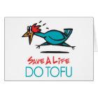 Humourous Tofu Design Card
