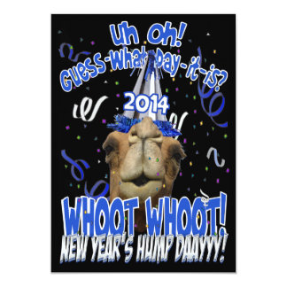 Hump Day Camel 2014 New Years Eve Party Invitation