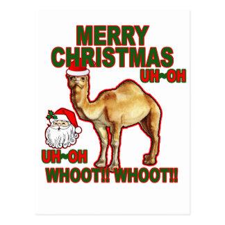 Hump Day Camel Santa Christmas T-shirt NM png Post Cards