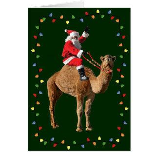 Hump Day Camel & Santa Merry Christmas Card