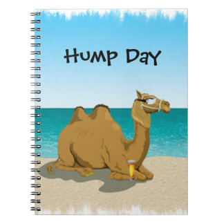 Hump Day Camel with Beer and Sunglasses Notebook