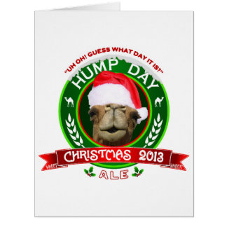 Hump Day Christmas Ale Label BIG Greeting Card